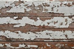 Tekstura drewniana ściana z starym farba narzutem który psuje pod wpływem czasu i weathe Obraz Stock
