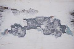 Tekstura drewniana powierzchnia z szarą obieranie farbą retro Obraz Royalty Free