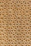 Tekstura: drewno rzeźbił kratownicy na okno, niezwykły kształt verdure pozyskiwania środowisk gentile zdjęcia stock