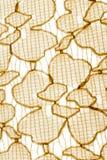 Tekstura, druk i wal tkanina koloru żółtego abstrakcjonistyczny wzór, Fotografia Royalty Free