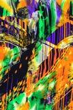 Tekstura druk tkaniny pasiasty nowożytny Obrazy Royalty Free