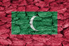 Tekstura flaga Maldives zdjęcia stock