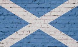 Tekstura flaga Szkocja na ścianie ilustracji