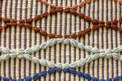 Tekstura galonowy dywanik zdjęcia royalty free