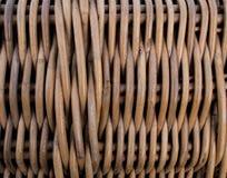 Tekstura galonowy kosza wzór Łozinowa powierzchnia Twiggen kosz zdjęcie royalty free