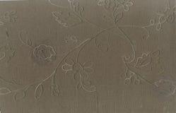 Tekstura jedwabnicza tkanina z dużych rozmiarów visitim nici wzorem kwiecisty ornament Wiktoriański styl Północna sztuka Nouvea Obrazy Royalty Free
