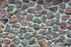 Tekstura kamień na ogrodzeniu Zdjęcie Stock