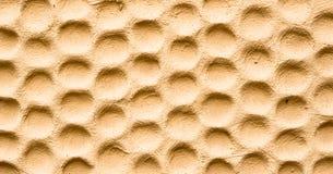 Tekstura kolor żółty ściana w formie honeycombs Zdjęcie Royalty Free