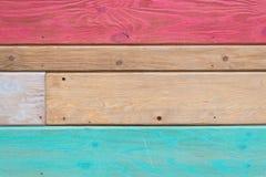 Tekstura kolorowe deski fotografia stock