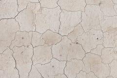 Tekstura krakingowa ziemia gdy suszarniczy up wodni bodies obraz royalty free