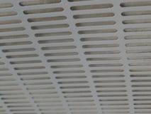 Tekstura kuchni rury wydechowej talerze, biały metal z dziurami zdjęcie royalty free