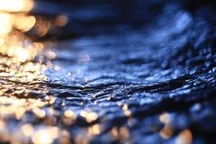 Tekstura lód, marznący wodny naturalny lód Obraz Stock