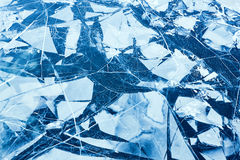 Tekstura lód powierzchnia, lodowy floe Obrazy Stock