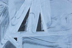 Tekstura lodowych kryształów tło Zdjęcie Royalty Free