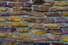 Tekstura lub wzór colourful kamienne cegły Zdjęcie Royalty Free