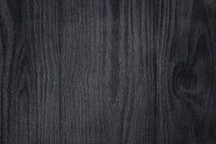Tekstura malujący sosnowy drewno z czarną semiglossy farbą obraz stock