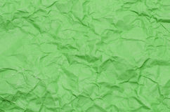 Tekstura marszczący zielony papier Zdjęcie Stock