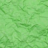 Tekstura marszczący zielony papier Obrazy Royalty Free
