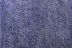 Tekstura niebiescy dżinsy tkaniny zakończenie up Obraz Royalty Free