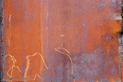 Tekstura ośniedziały żelaza prześcieradło fotografia stock