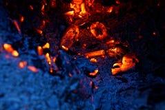 Tekstura od popiółu ogień i upału Obraz Stock