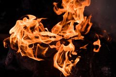 Tekstura ogień obraz royalty free