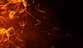 Tekstura oparzenie ogień P?omienie na odosobnionym czarnym tle Tekstura dla sztandaru, ulotka, karta ilustracja wektor