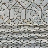 Tekstura otoczaków kamieni ściana zdjęcia stock