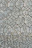 Tekstura otoczaków kamieni ściana obraz stock