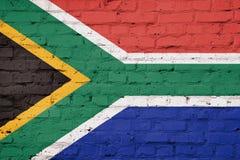 Tekstura Południowa Afryka flaga Zdjęcia Royalty Free