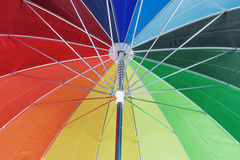 Tekstura poniższy Kolorowy parasol Zdjęcie Stock