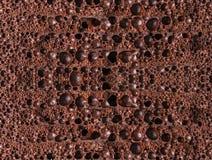 Tekstura porowaty czekoladowy zakończenie Zdjęcie Stock