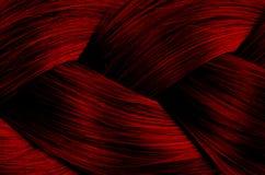 Tekstura prostego włosy galonowego spikelet czerwony kolor fotografia stock