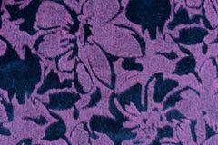 Tekstura purpurowa aksamitna tkanina Fotografia Royalty Free