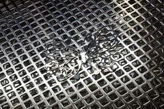Tekstura robić od nierdzewnego grille Zdjęcie Royalty Free