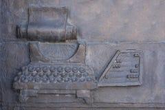 Tekstura rocznika abakus i maszyna do pisania fotografia royalty free