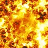 Tekstura słońce, płomienie i pożarniczy tło, oparzenie royalty ilustracja