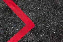 Tekstura silnik rasy asfalt i czerwony biały krawężnik Obraz Royalty Free