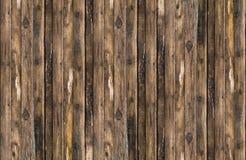 Tekstura stara brown deski kanwa pionowo linie Obrazy Royalty Free
