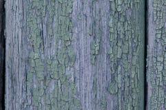 Tekstura stara drewniana deska z obieranie farbą Obraz Royalty Free