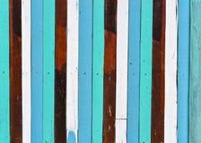 Tekstura stara kolorowa drewniana ściana zdjęcie stock