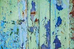 Tekstura stara metal rdza Tło jest błękitny, czerwonawy i jasnozielony, fotografia stock