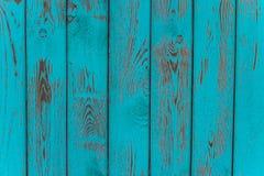 Tekstura stary błękitnej zieleni drzewo Drewniany tekstury tło z scuffs, narysy obraz stock
