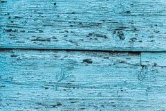 Tekstura stary błękitnej zieleni drzewo Drewniany tekstury tło z scuffs, narysy fotografia royalty free
