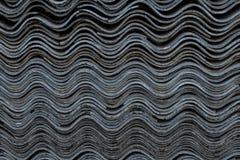 Tekstura stary falisty łupek na dachu zdjęcia stock
