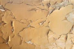 Tekstura stary farby obieranie na kamiennej ścianie Tło exfoliation barwidło fotografia royalty free