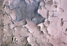 Tekstura stary farby obieranie na kamiennej ścianie Tło exfoliation barwidło zdjęcie royalty free