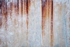 Tekstura stary ośniedziały list żelazo z smudges zdjęcie stock