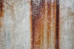Tekstura stary ośniedziały list żelazo z smudges zdjęcia stock