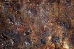 Tekstura stary zrudziały stalowy talerz fotografia royalty free